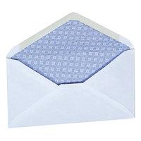 Universal UNV35204 #6 3/4 White 3 5/8 inch x 6 1/2 inch Diagonal Seam Security Business Envelope - 250/Box