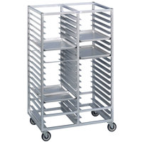 Channel 465A6 76 Tray Bottom Load Double Aluminum Cafeteria Tray Rack - Assembled