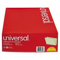 Universal UNV13330 Letter Size File Folder - Standard Height with Straight Cut End Tab, Manila   - 100/Box
