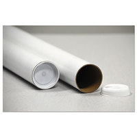 United Facility Supplies RRTW318 18 inch x 3 inch White Round Mailing Tube - 25/Pack