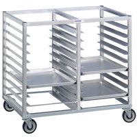 Channel 467A3 24 Tray Bottom Load Double Aluminum Cafeteria Tray Rack - Assembled