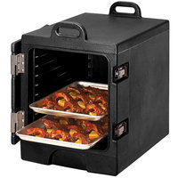 Cambro 1318MTC110 Camcarrier Black Insulated Tray / Sheet Pan Carrier - Front Load, Holds Half Size Pans