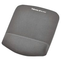 Fellowes 9252201 PlushTouch Graphite Foam Mouse Pad with Wrist Rest and Microban Protection