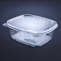 D&W Fine Pack VH64P VersaPak 64 oz. Recyclable Square Hinged Take Out Deli Container 200/Case