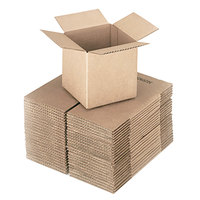 6 inch x 6 inch x 6 inch Kraft Shipping Box - 25/Bundle