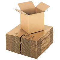 8 inch x 8 inch x 8 inch Kraft Shipping Box - 25/Bundle