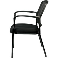 Eurotech Seating 7011-BLACK Dakota 2 Black Dove Fabric / Mesh Guest Chair