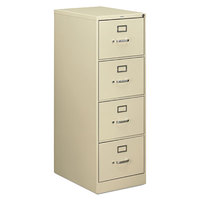 HON 514CPL 510 Series 18 1/4 inch x 25 inch x 52 inch Putty Four-Drawer Metal Full-Suspension File Cabinet - Legal