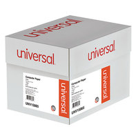 Universal UNV15865 11 inch x 14 7/8 inch White Case of 20# Perforated Continuous Print Computer Paper - 2400/Sheets