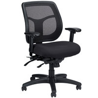 Eurotech Seating MFT945SL-5806 Apollo Black Fabric / Mesh Multi-Function Mid Back Swivel Office Chair with Seat Slider