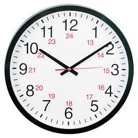 Universal UNV10441 12 5/8 inch Black 24-Hour Wall Clock