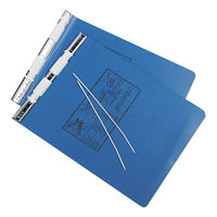 UNV15432 9 1/2 inch x 11 inch Top Bound Hanging Data Post Binder - 6 inch Capacity with 2 Fasteners, Blue
