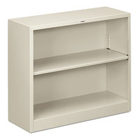 HON S30ABCQ Light Gray 2 Shelf Metal Bookcase - 34 1/2 inch x 12 5/8 inch x 29 inch