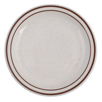 Tuxton TBS-007 Bahamas 7 1/4 inch Brown Speckle Narrow Rim China Plate - 36/Case