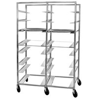 Channel OT-8D 16 Tray Double Aluminum Oval Tray Rack - Assembled