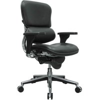 Eurotech Seating LE10ERGLO Ergohuman Black Leather Mid Back Swivel Office Chair
