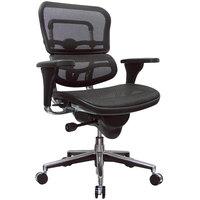 Eurotech Seating ME8ERGLO-W09-1 Ergohuman Black Mesh Mid Back Swivel Office Chair