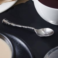 Reed & Barton RB111-007 Captiva 4 1/4 inch 18/10 Stainless Steel Extra Heavy Weight Demitasse Spoon - 12/Case
