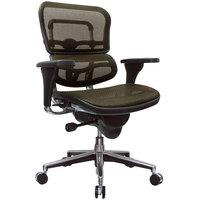 Eurotech Seating ME8ERGLO-KM13 Ergohuman Orange Mesh Mid Back Swivel Office Chair