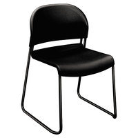 HON 4031ONT GuestStacker Black Stacking Chair - 4/Case