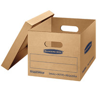 Banker's Box 7714203 SmoothMove Classic 15 inch x 12 inch x 10 inch Kraft / Blue Small Moving Box - 10/Case