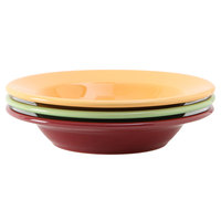 Tuxton DYD-090 DuraTux 12.5 oz. Rim China Soup Bowl, Assorted Colors - 24/Case