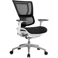 Eurotech Seating IOO-BLK iOO Black / White Mesh Synchro Tilt Office Chair
