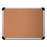 Universal UNV43713 36 inch x 24 inch Cork Board with Aluminum Frame