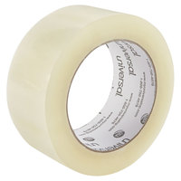 Universal UNV73000 2 inch x 109 Yards Clear Quiet Tape Box Sealing Tape - 6/Pack