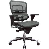 Eurotech Seating ME8ERGLO-W09-53 Ergohuman Grey Mesh Mid Back Swivel Office Chair
