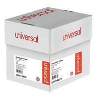 Universal UNV15873 9 1/2 inch x 11 inch Multicolor Case of 15# 3 Part Perforated Continuous Print Computer Paper - 1200/Sheets