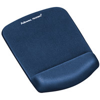Fellowes 9287301 PlushTouch Blue Foam Mouse Pad with Wrist Rest and Microban Protection