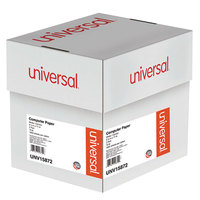 Universal UNV15872 9 1/2 inch x 11 inch Multicolor Case of 15# 2 Part Perforated Continuous Print Computer Paper - 1800/Sheets