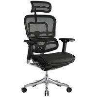Eurotech Seating ME22ERGLT-N15 Ergoelite Black Mesh High Back Synchro Tilt Office Chair