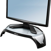 Fellowes 8020101 Smart Suites 18 1/2 inch x 12 1/2 inch x 5 1/8 inch Black Corner Monitor Riser