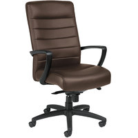 Eurotech Seating LE150-BRNL Manchester Brown Leather High Back Swivel Tilt Office Chair