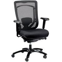 Eurotech Seating MFSY77 Monterey Black Fabric / Mesh Synchro Tilt Office Chair