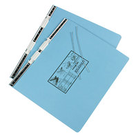 UNV15441 11 inch x 14 7/8 inch Top Bound Hanging Data Post Binder - 6 inch Capacity with 2 Fasteners, Light Blue