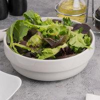 Tuxton BPB-620 DuraTux 62 oz. Porcelain White China Stackable Salad Bowl - 12/Case