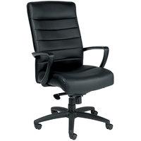 Eurotech Seating LE150-BLKL Manchester Black Leather High Back Swivel Tilt Office Chair