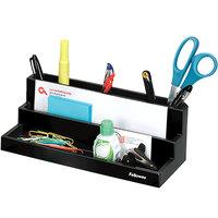Fellowes 8038901 Designer Suites 11 1/8 inch x 5 inch x 3 7/8 inch Black 7 Section Desktop Organizer