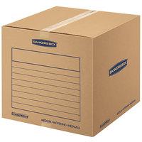 Banker's Box 7713901 SmoothMove Basic 18 inch x 18 inch x 16 inch Kraft / Blue Medium Moving Box   - 20/Bundle