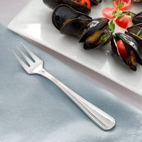 Acopa Landsdale 5 1/2 inch 18/8 Stainless Steel Extra Heavy Weight Oyster / Appetizer / Cocktail Fork   - 12/Case