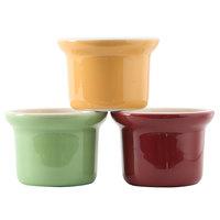 Tuxton DYS-1605 DuraTux 16 oz. Petite China Marmite, Assorted Colors - 12/Case
