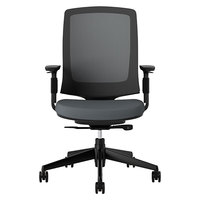 HON 2281VA19T Lota Charcoal Mid Back Mesh Work Chair with Casters