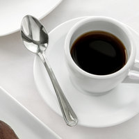 Acopa Landsdale 4 1/2 inch 18/8 Stainless Steel Extra Heavy Weight Demitasse Spoon   - 12/Case