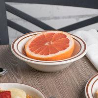 Tuxton TBS-010 Bahamas 11 oz. Brown Speckle Wide Rim China Grapefruit Bowl - 36/Case