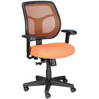 Eurotech Seating MT9400-5870 Apollo Orange Dove Fabric / Mesh Mid Back Swivel Tilt Office Chair