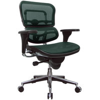 Eurotech Seating ME8ERGLO-KM14 Ergohuman Green Mesh Mid Back Swivel Office Chair