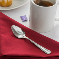 Acopa Landsdale 6 inch 18/8 Stainless Steel Extra Heavy Weight Teaspoon   - 12/Case